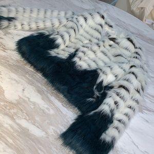 Glamorous Fur Jacket with black blue coloring
